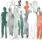 En illustration av en grupp människor.