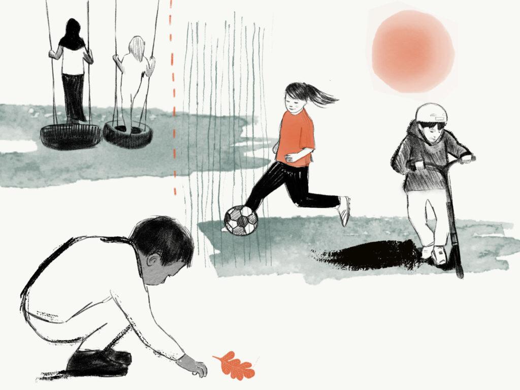 Illustration av barn som leker.