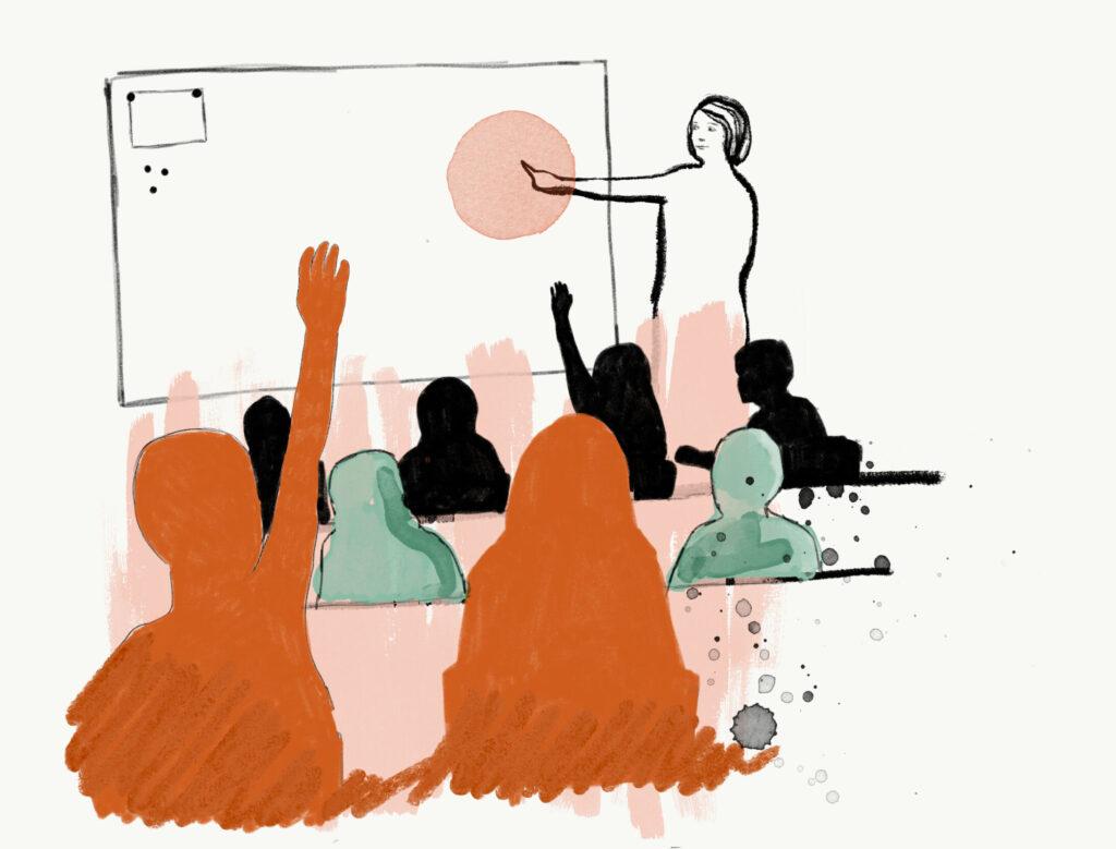 Illustration av elever i ett klassrum.