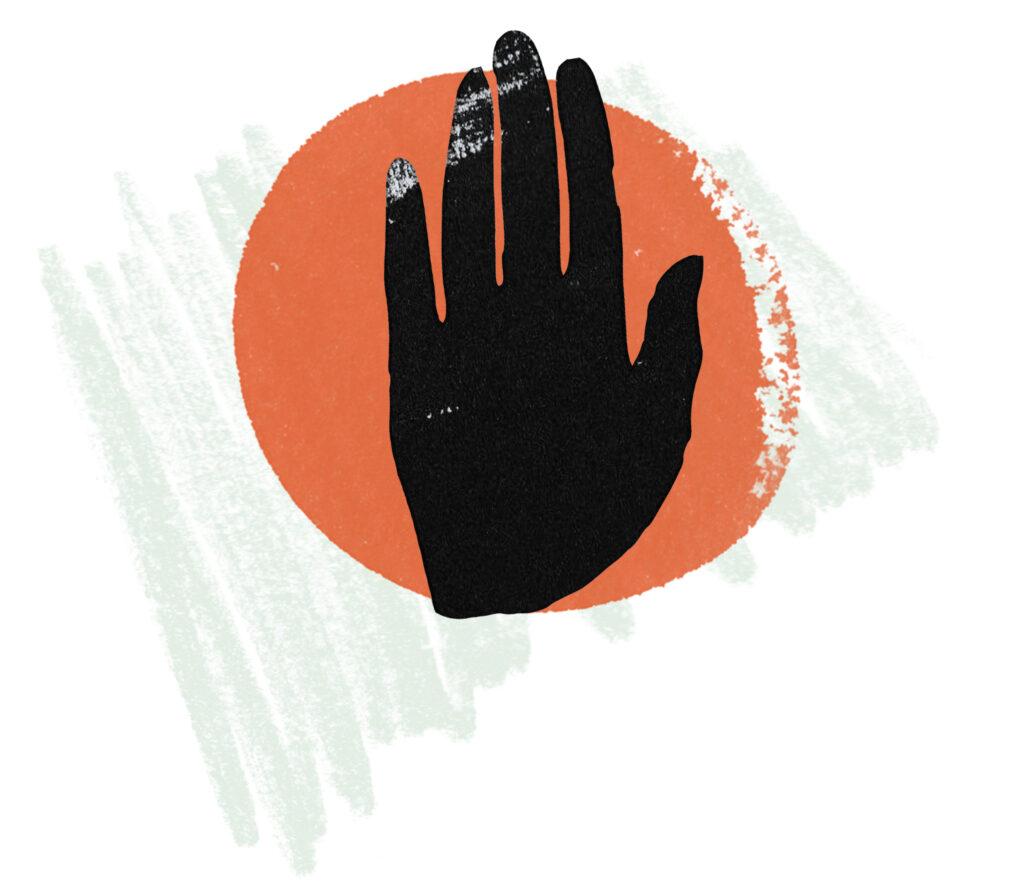 En uppräckt hand