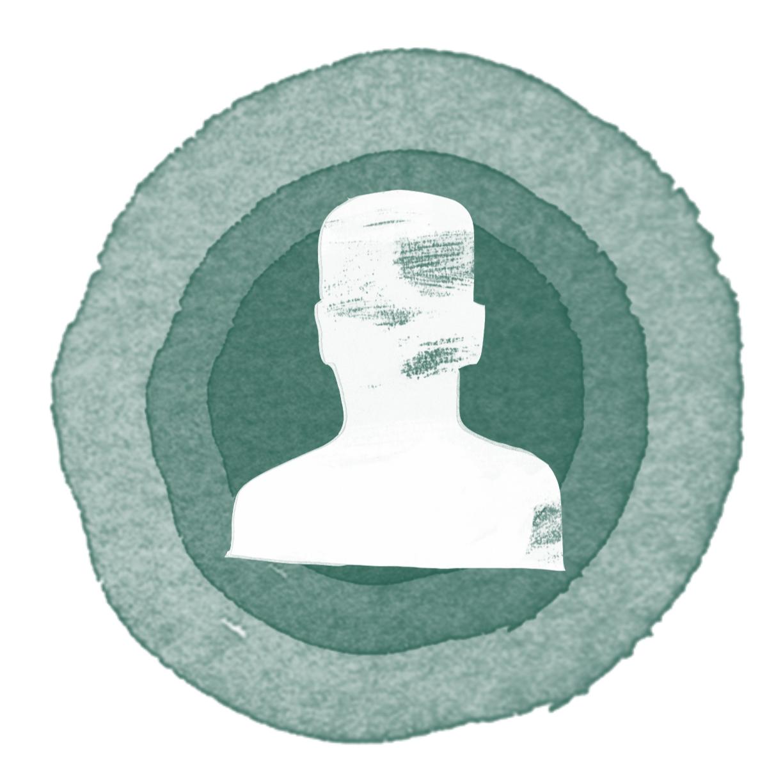 En siluett av en människa som symboliserar rättighetsinnehavaren.
